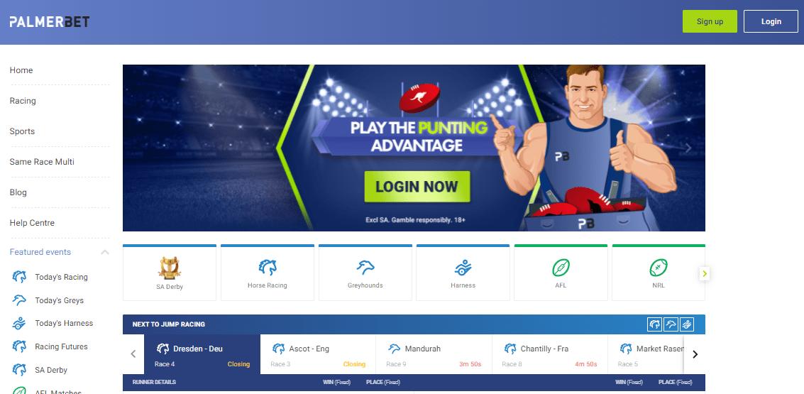 PalmerBet betting offers