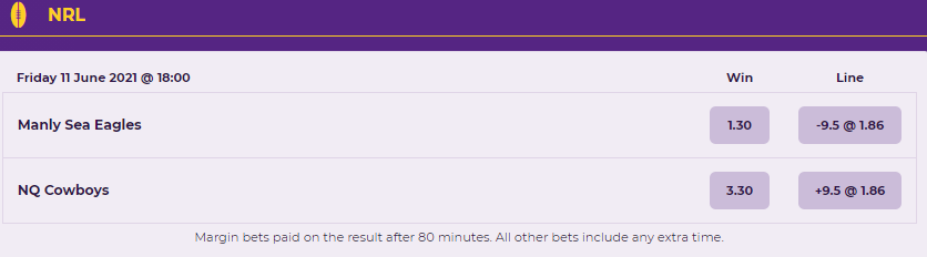 nrl line betting