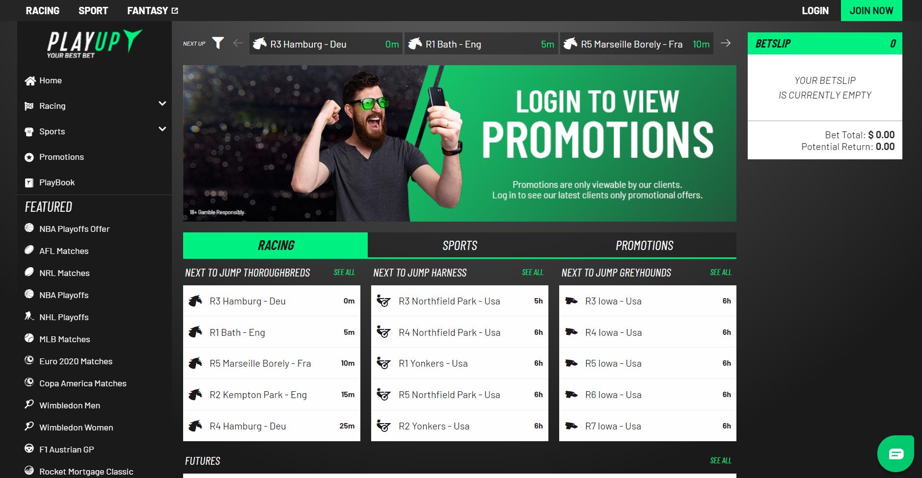live betting Australia - PlayUp