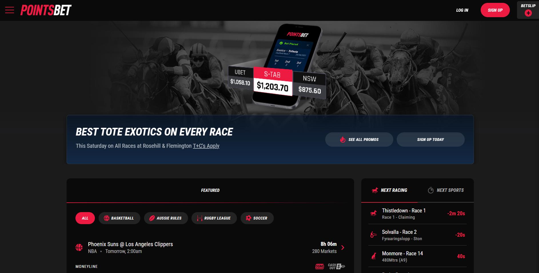 live betting Australia - pointsbet