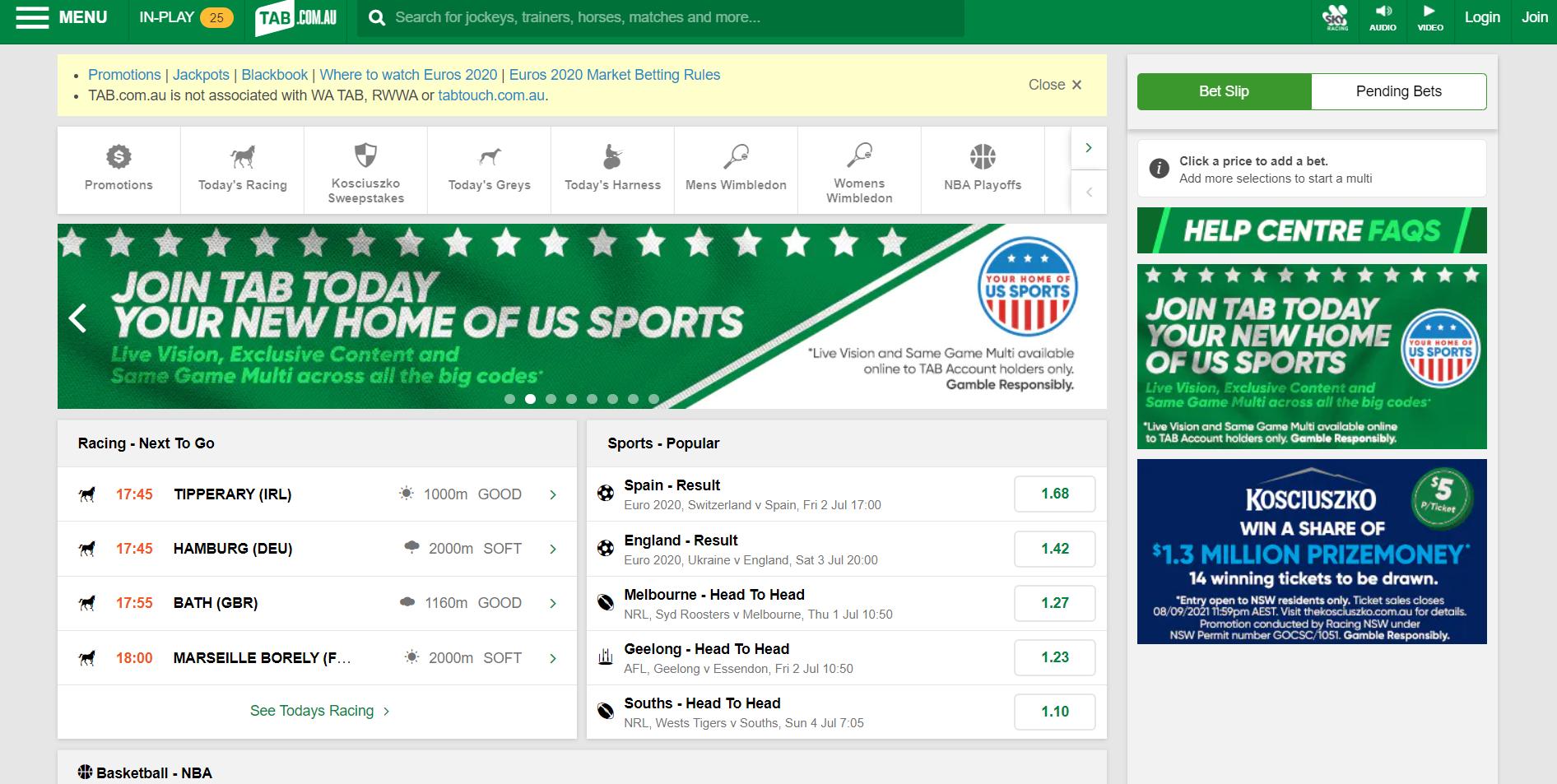 Australian live betting sites - TAB