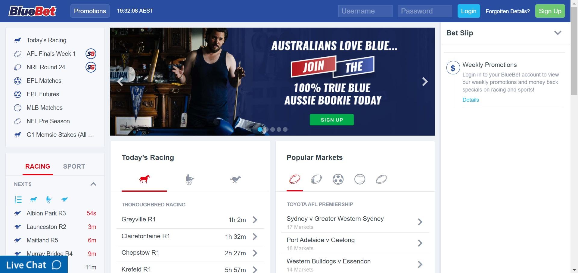 BlueBet new betting sites Australia