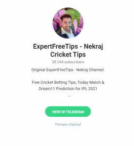 ExpertFreeTips Cricket Telegram