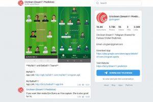 CricGram Cricket Telegram