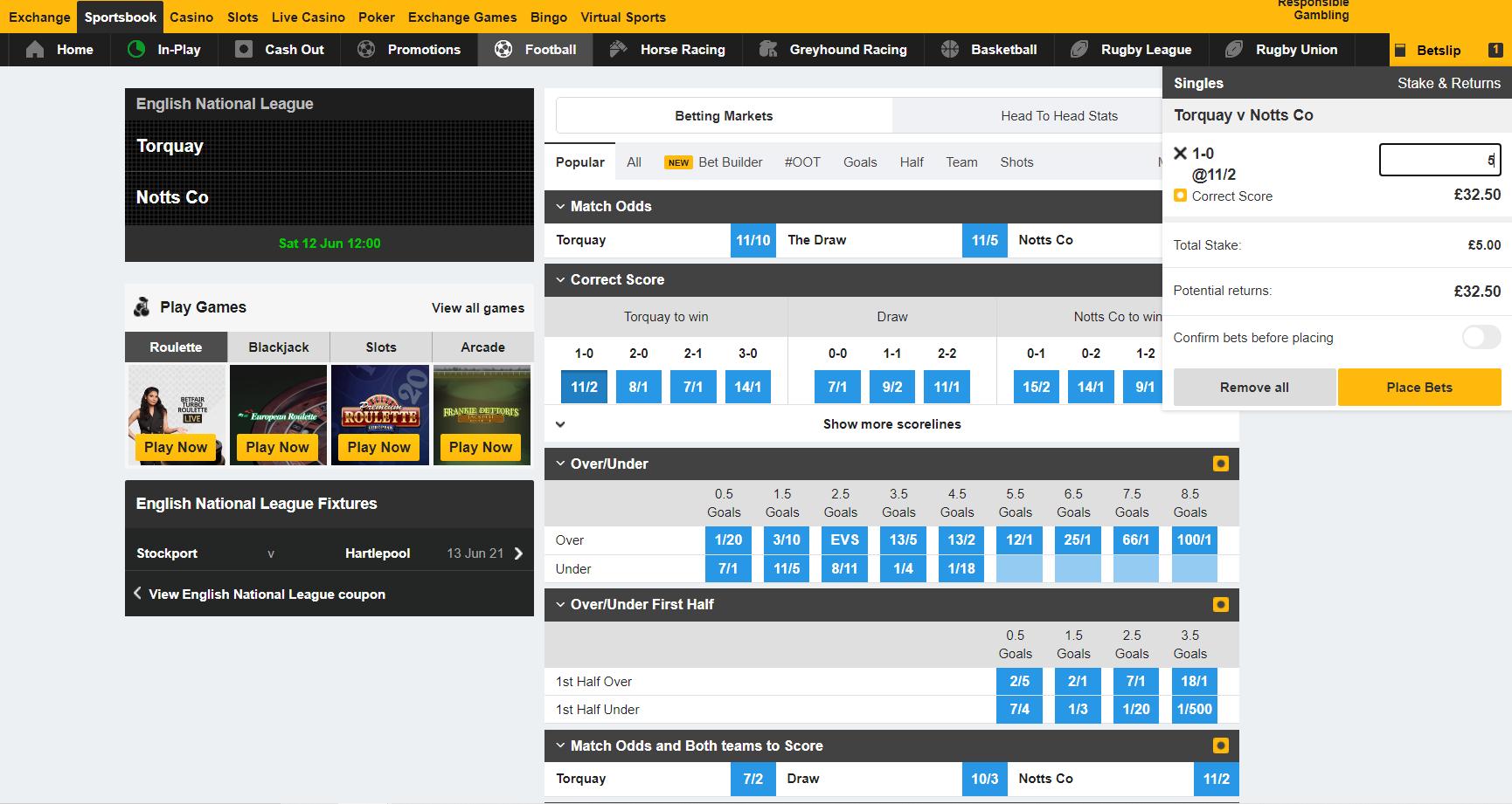 Pakistan betting sites - Betfair bet placement