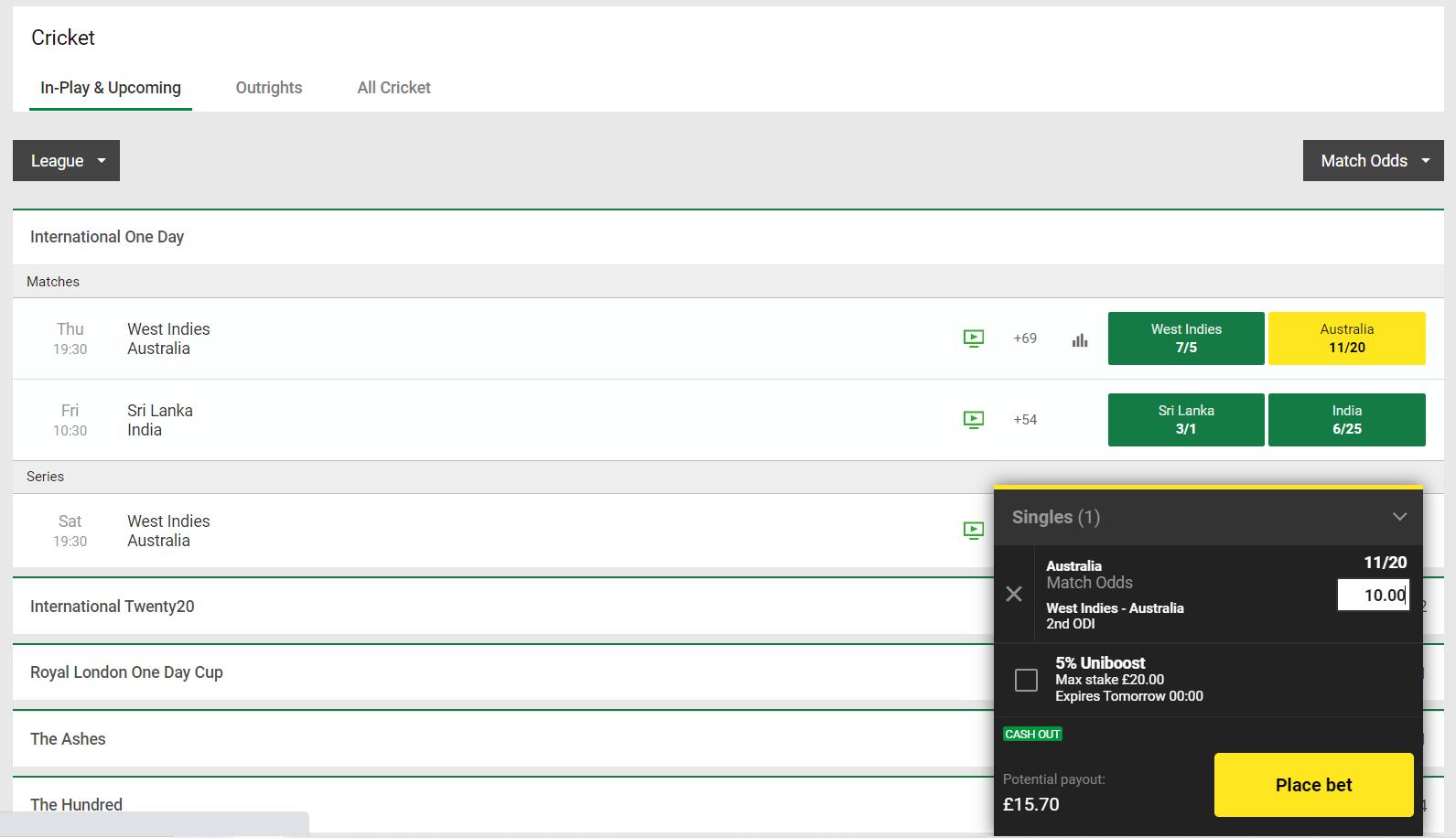 Saudi betting sites - bet placement