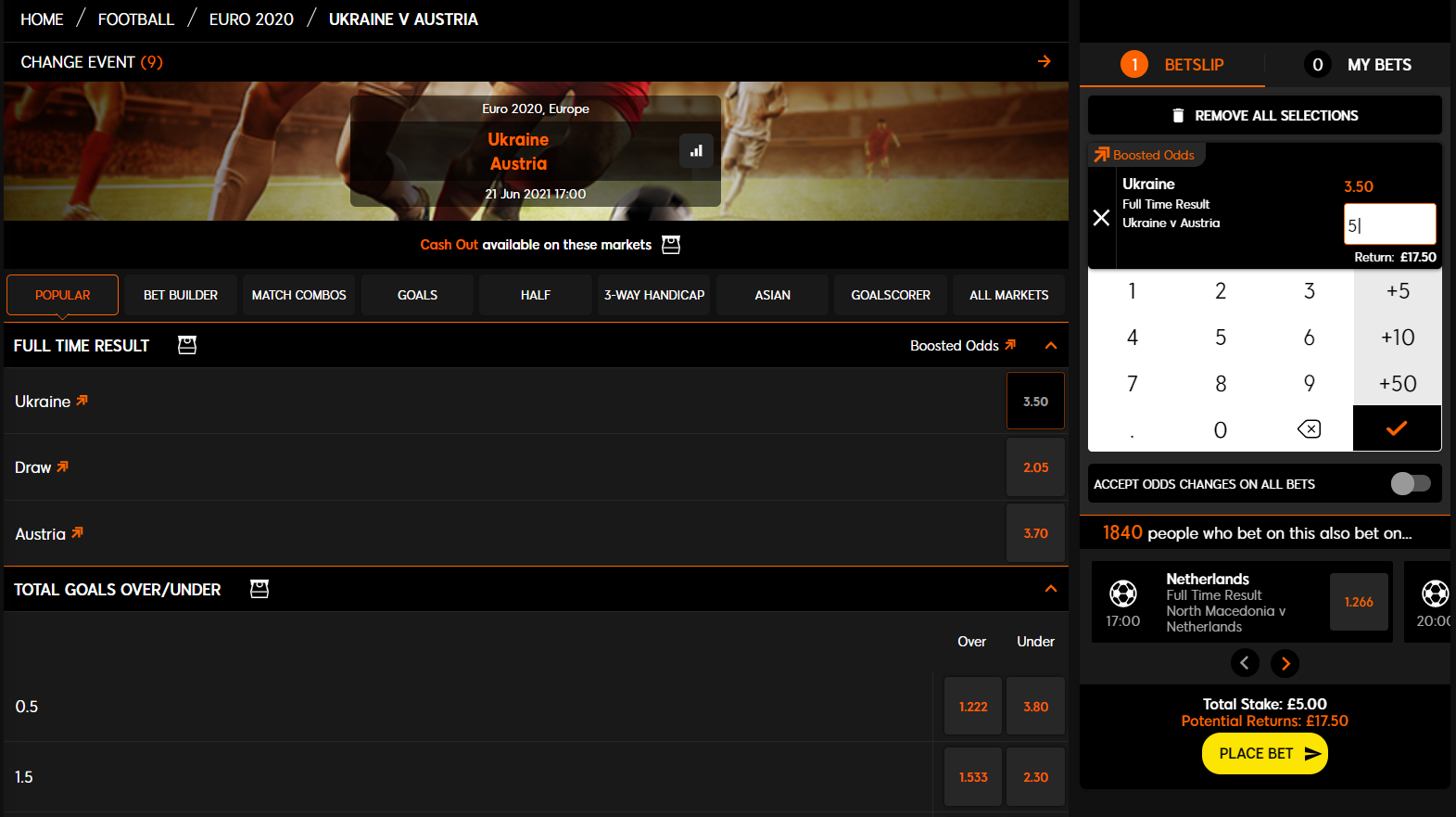 Best Ukranian betting sites - 888sport bet placement