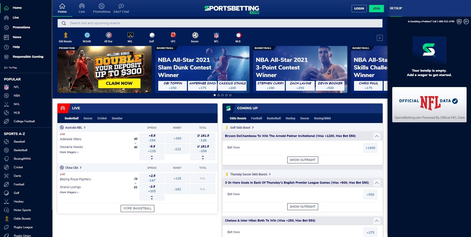 sportsbetting homepage