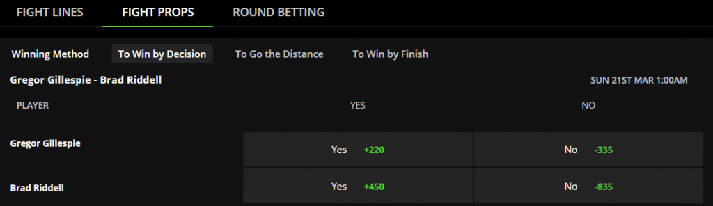 ufc betting props
