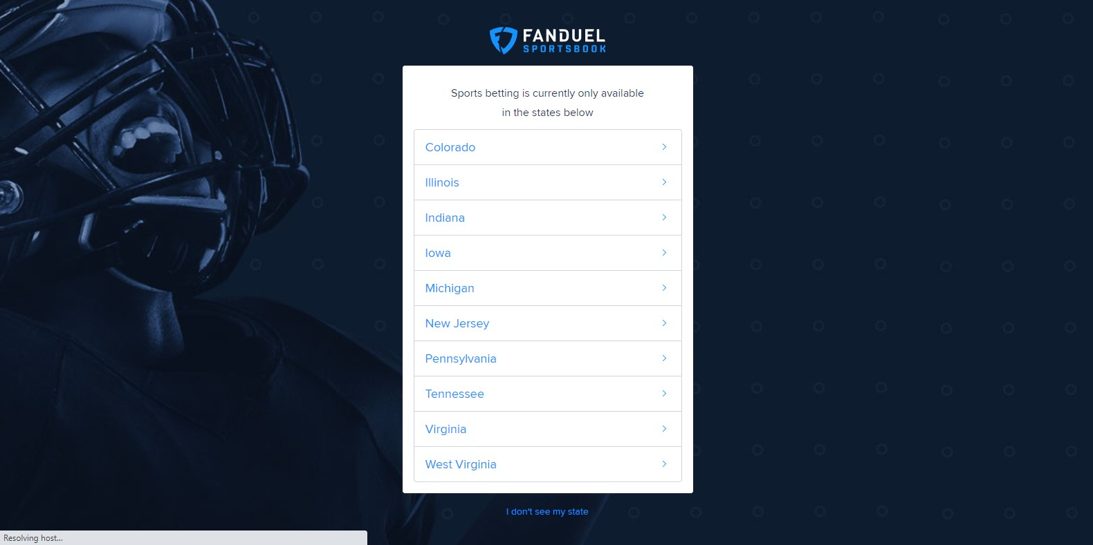 Fanduel sign up 1
