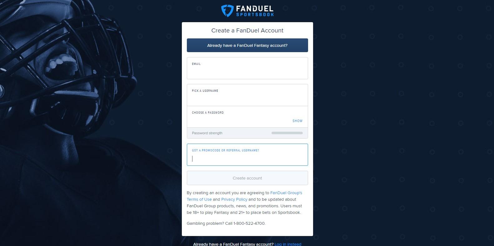 fanduel promo code step 2