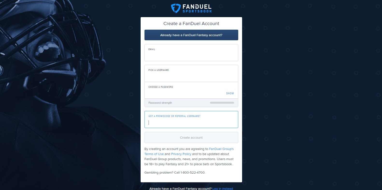 fanduel sign up 2