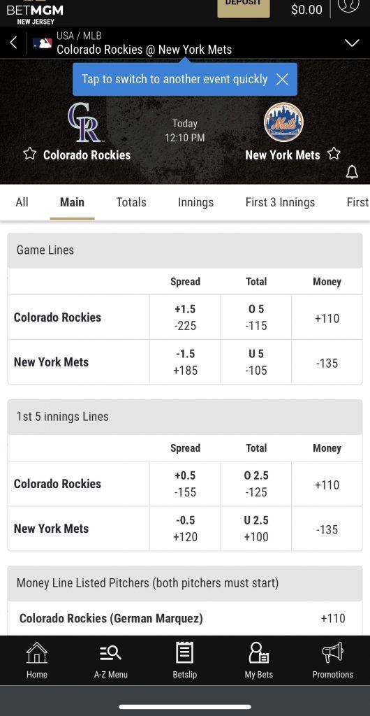 BetMGM NJ Sportsbook App