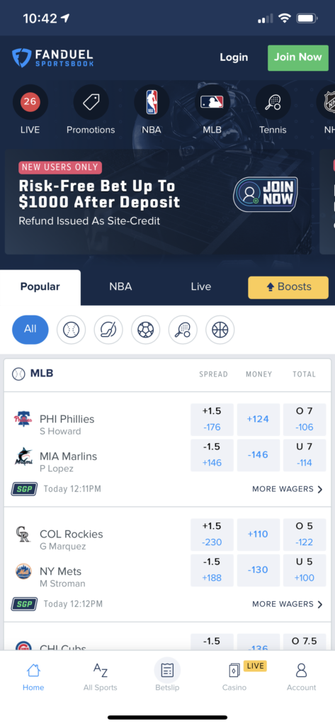 FanDuel NJ Sportsbook App