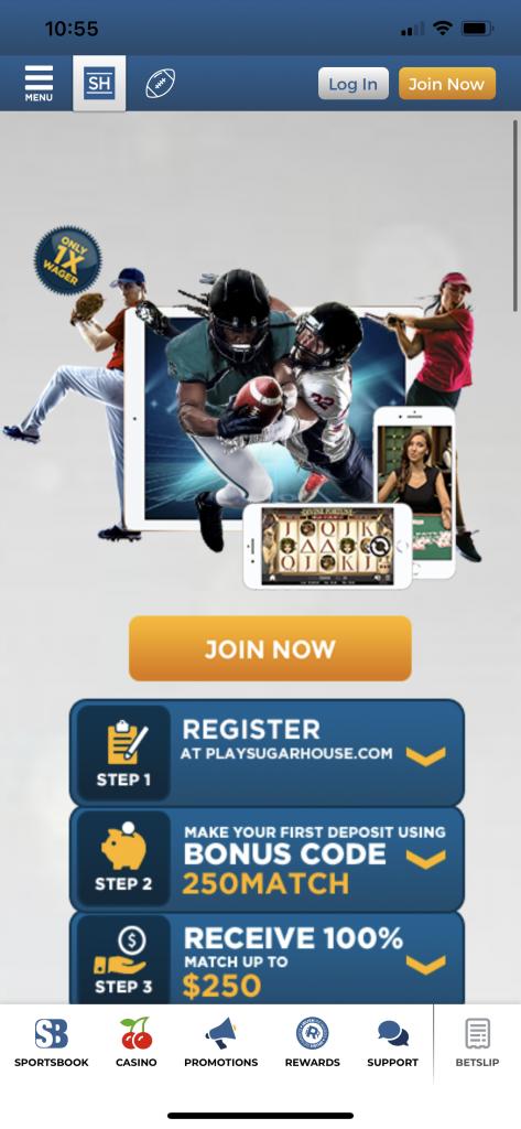 SugarHouse NJ Sportsbook App