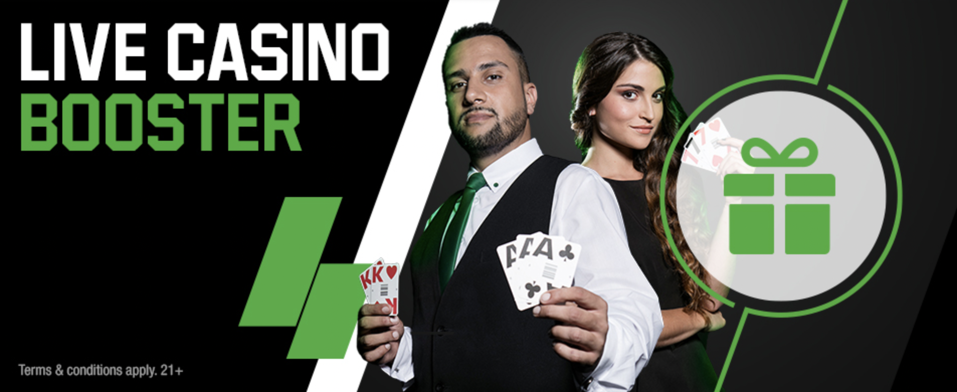 Unibet Online Casino - Live Casino Booster