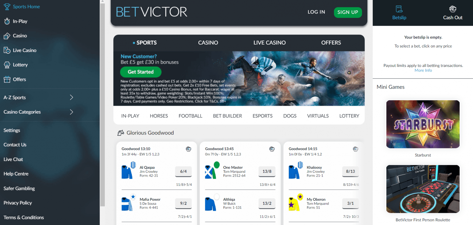 Betvictor football betting