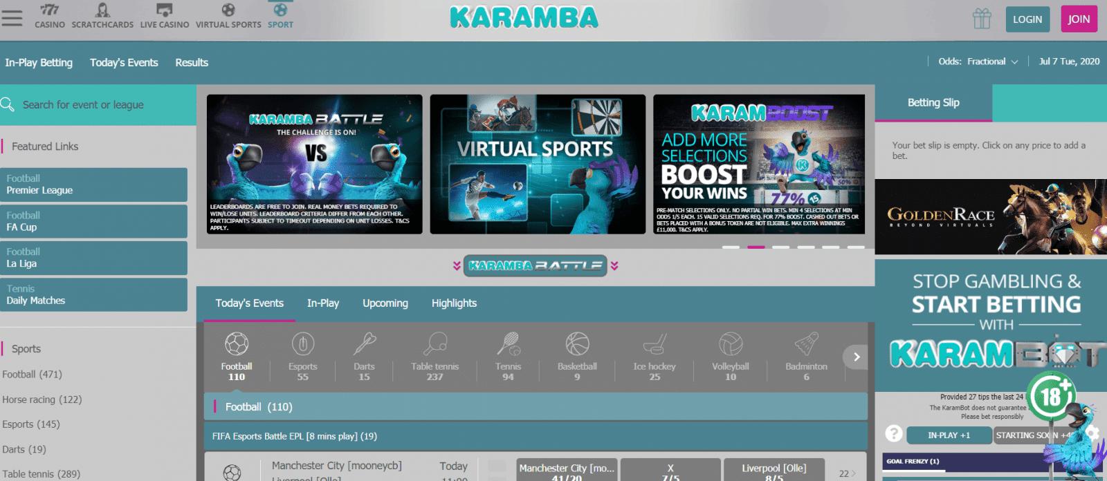 betting sites - Karamba Sports