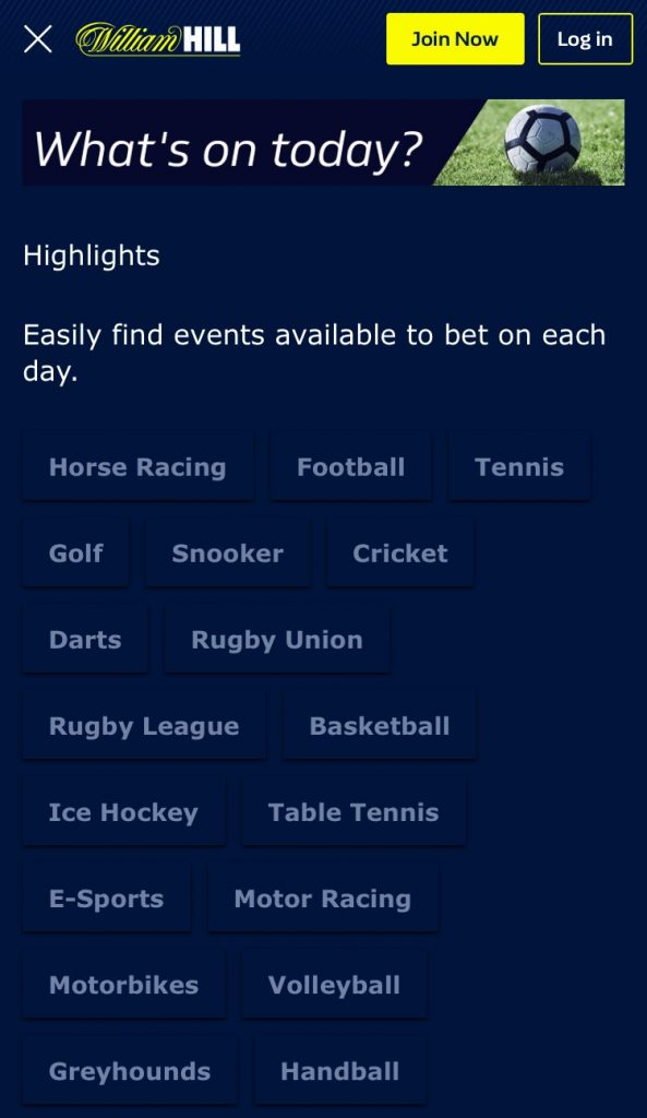 William Hill Sports Betting App Promotions