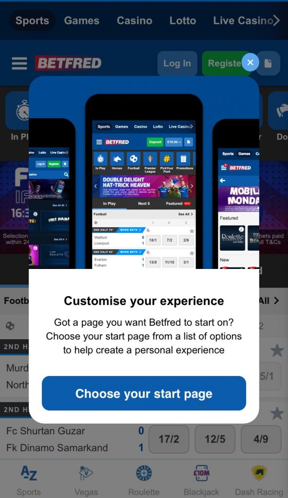 Betfred Mobile App Betting