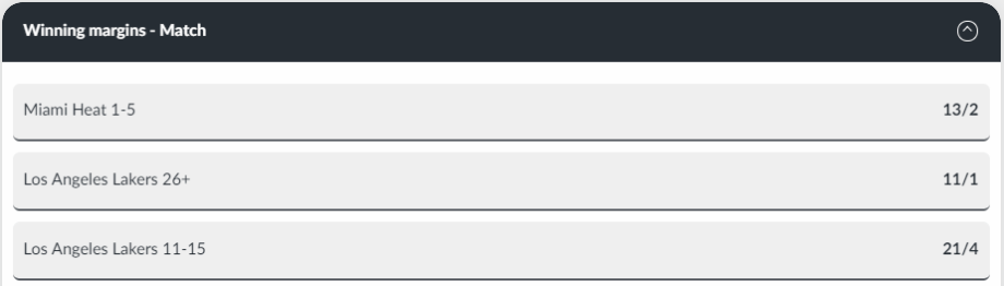 Basketball betting winning margins