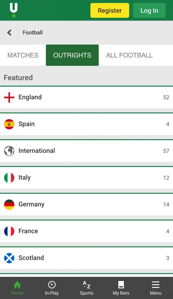 unibet football betting app outrights