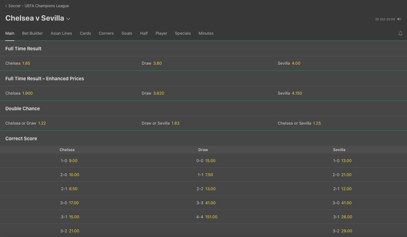 bet365 football betting