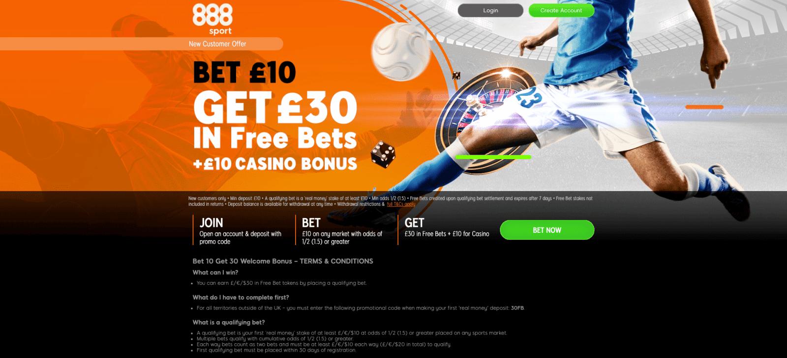 888sport free bet code