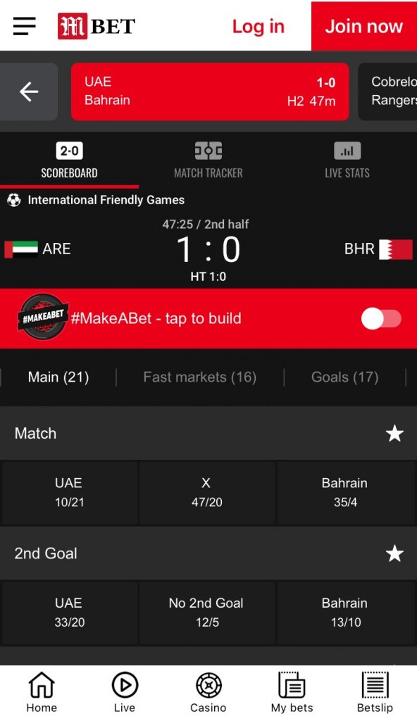MansionBet Sports betting app