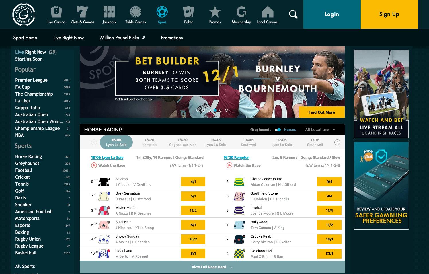 Grosvenor Sport Online Bookmaker