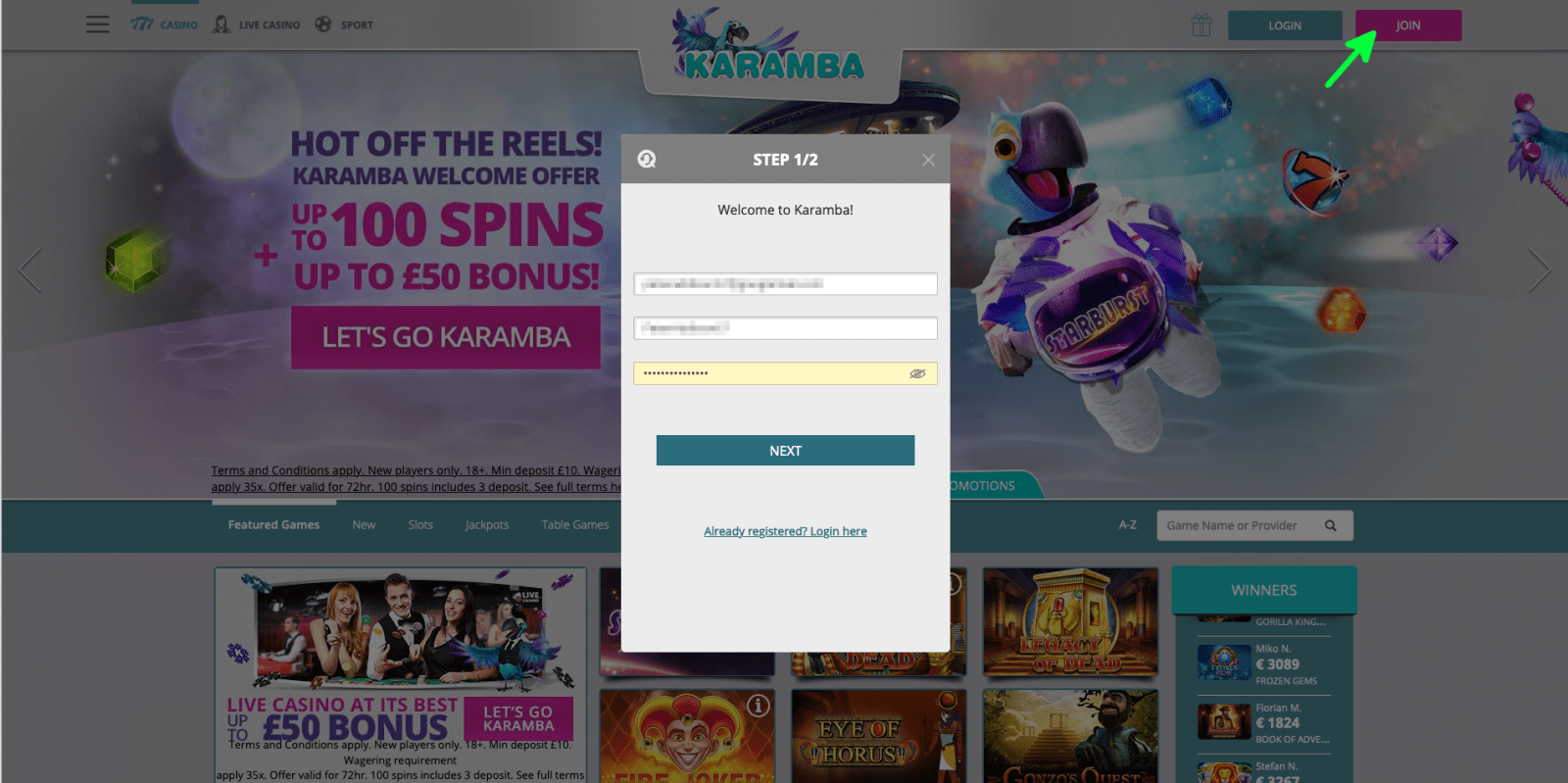 Karamba promo code 1