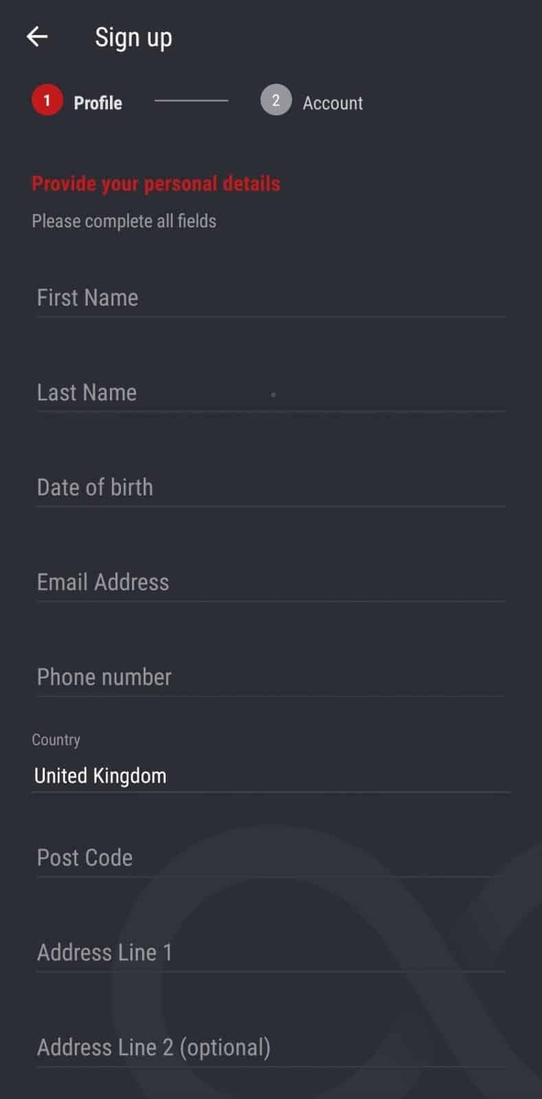 matchbook interface