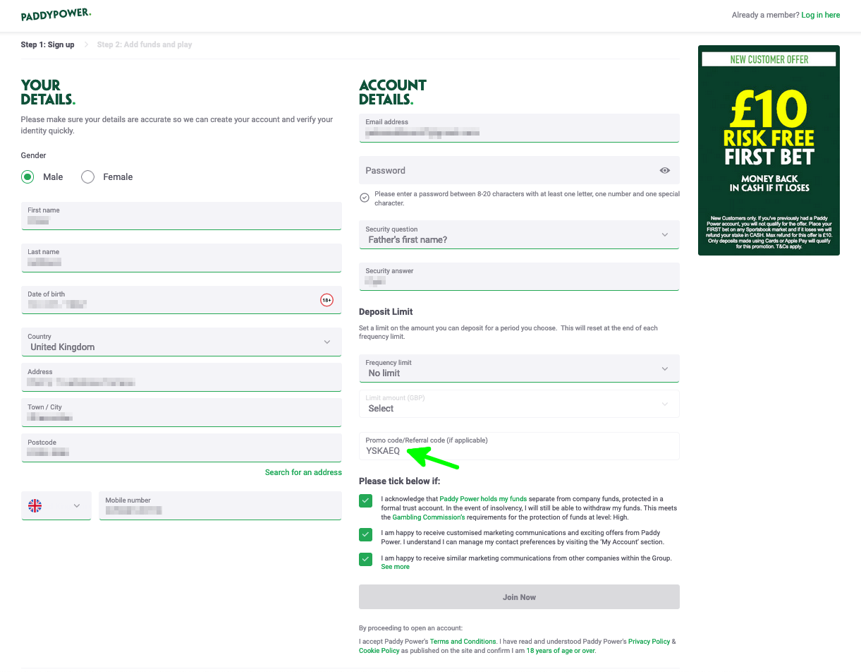paddy power beat the drop