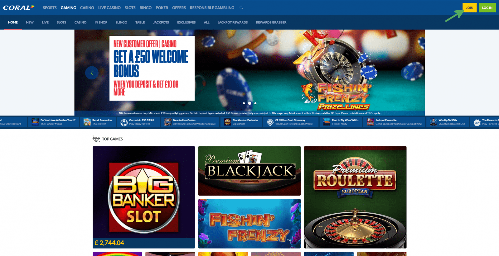 Coral Casino Sign Up 1