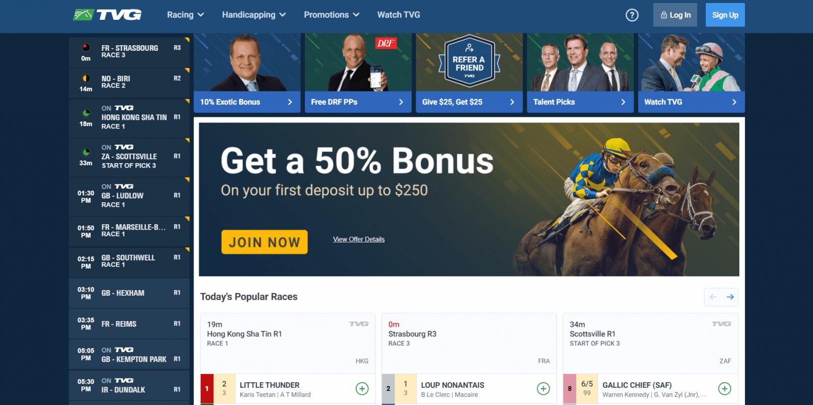 Kentucky derby betting - home screen