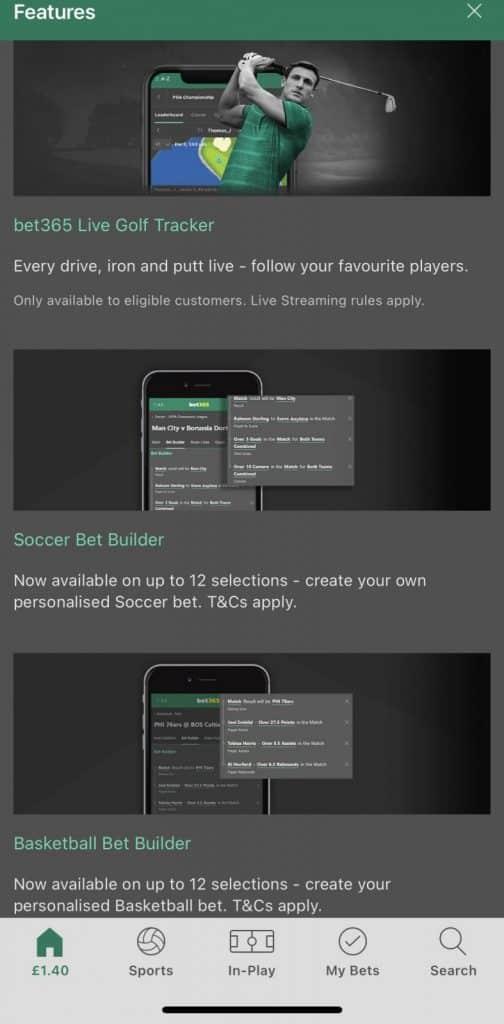 bet365 mobile app offer