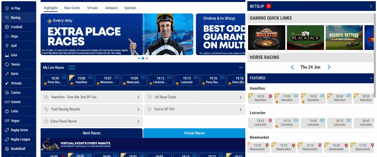 horse racing streaming - boylesports races