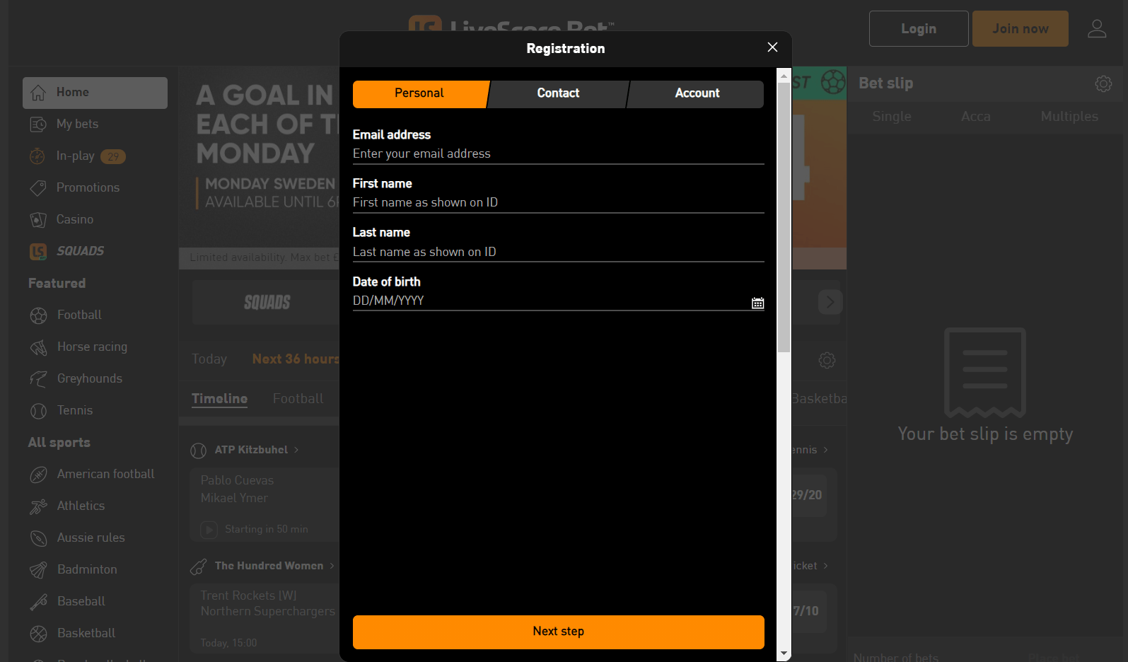 LiveScore Bet review - sign up