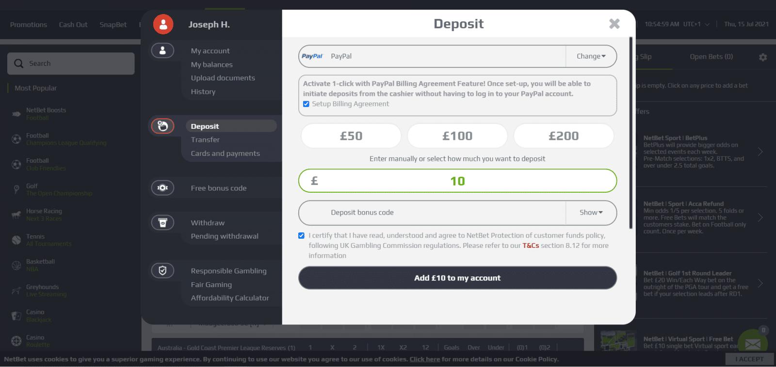 netbet review - deposit