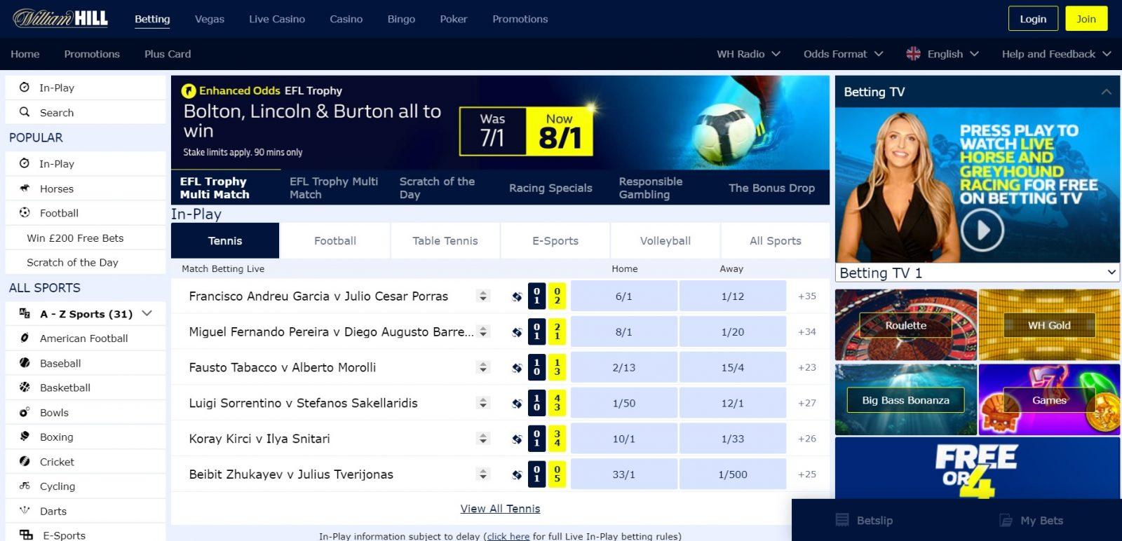 William Hill best betting sites