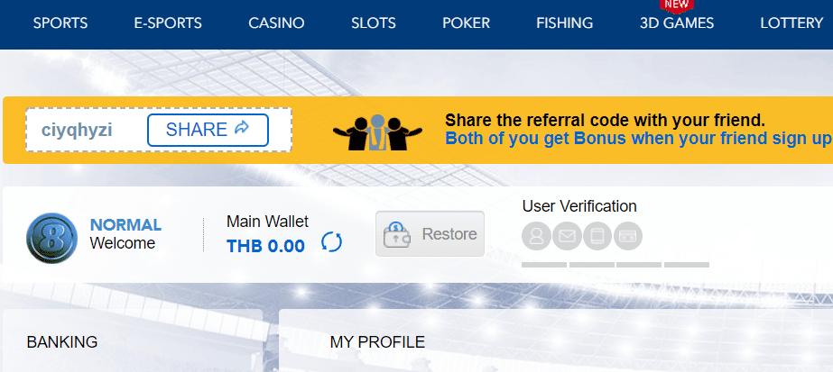 BK8 review - account verification
