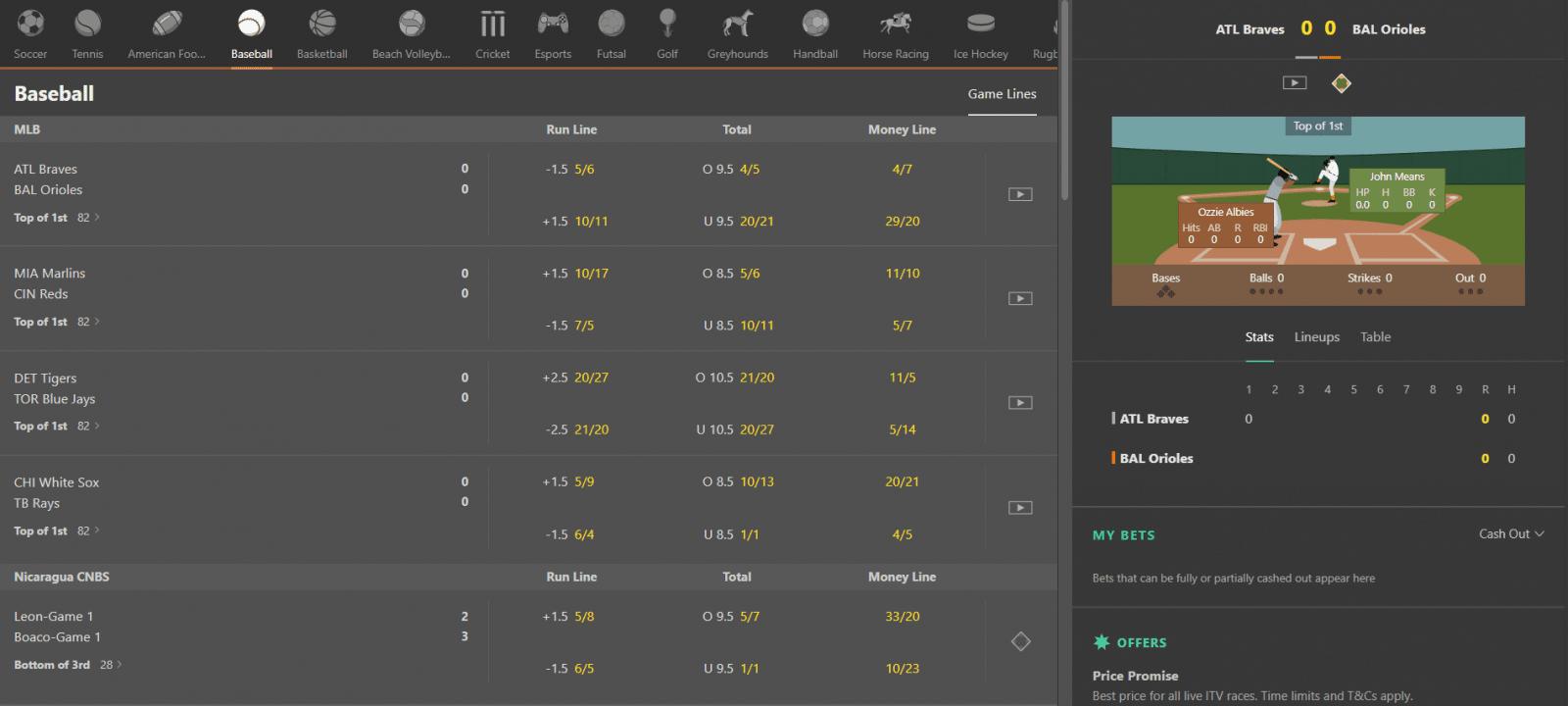 Bet365 vs Betfair - Bet365 live streaming