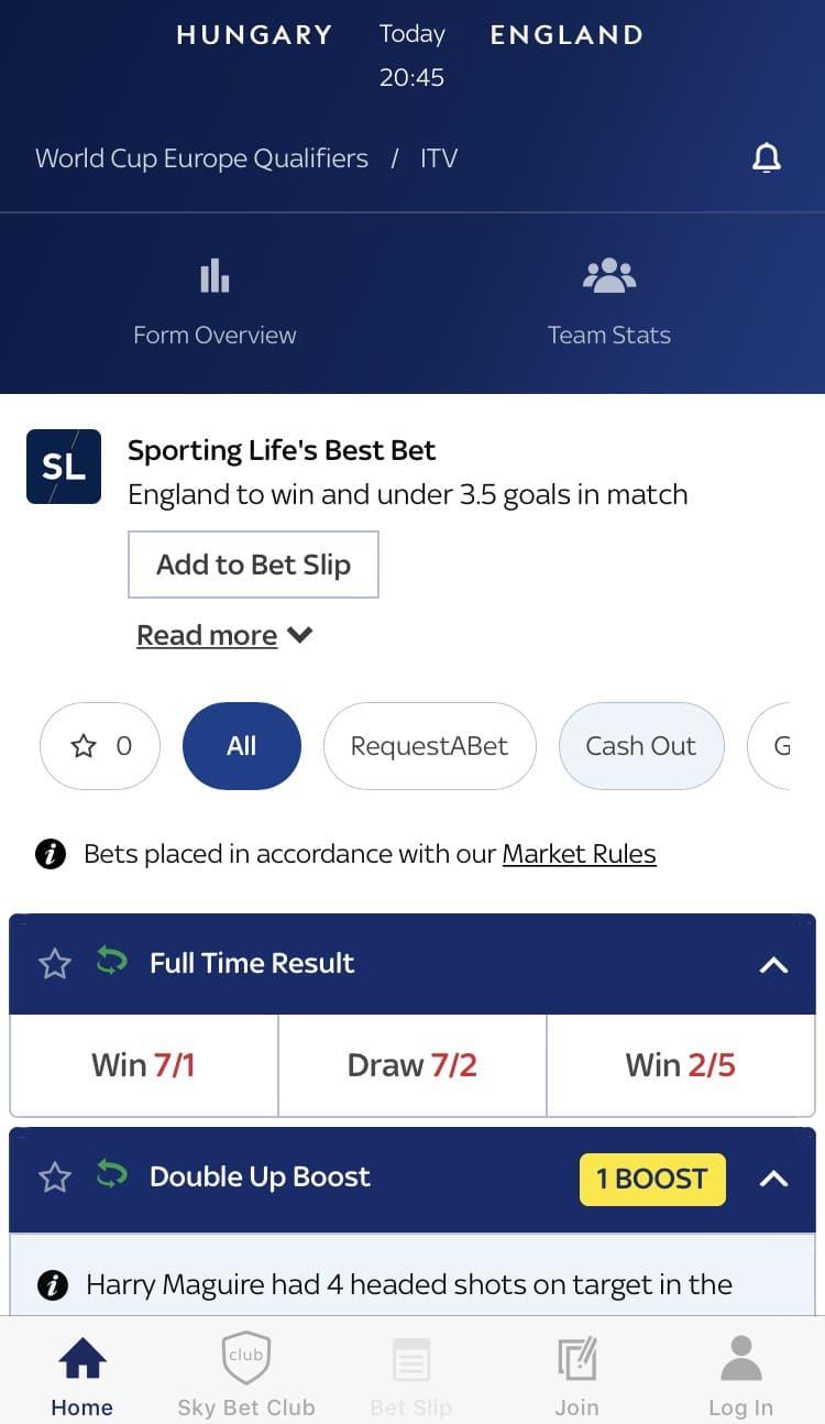 sky bet app review - betting markets